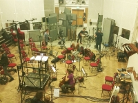 Recording strings for 'Middle East Themes' at Abbey Road